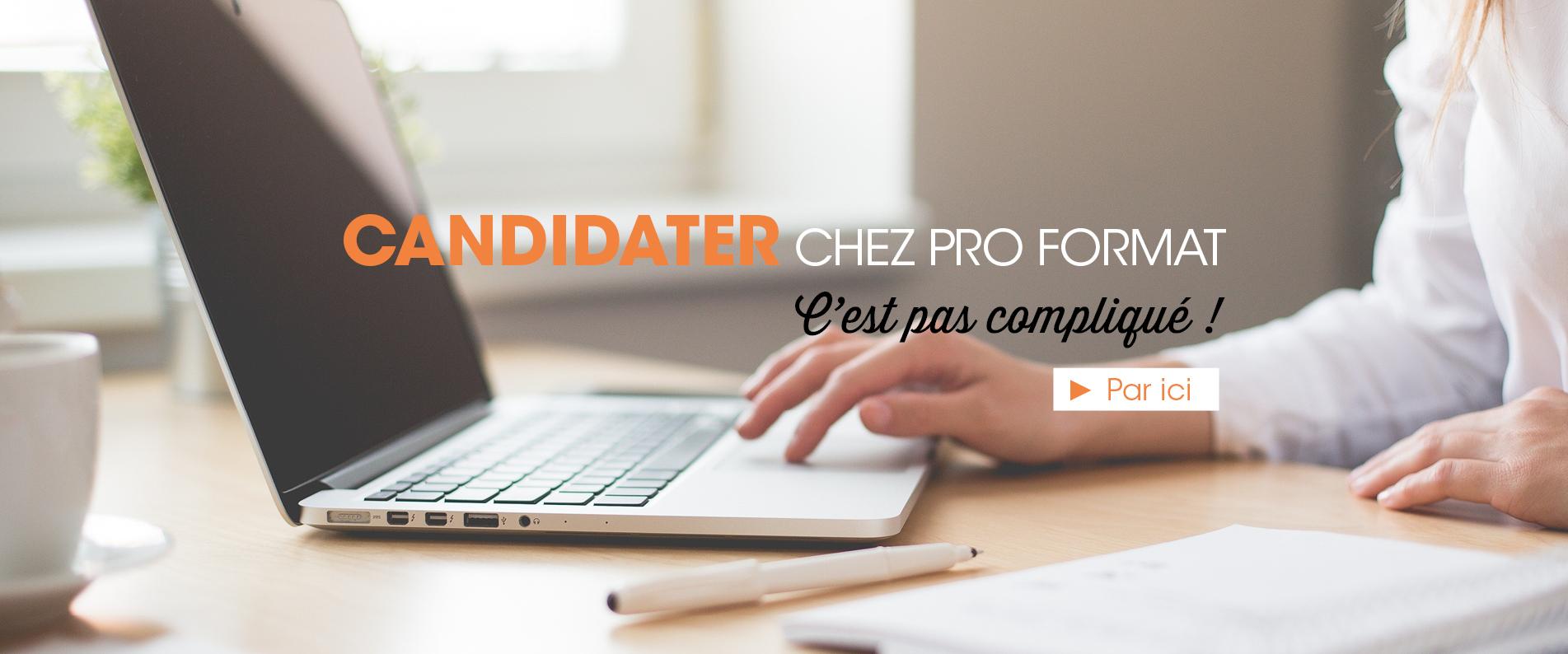 candidater chez Pro Format alternance mulhouse
